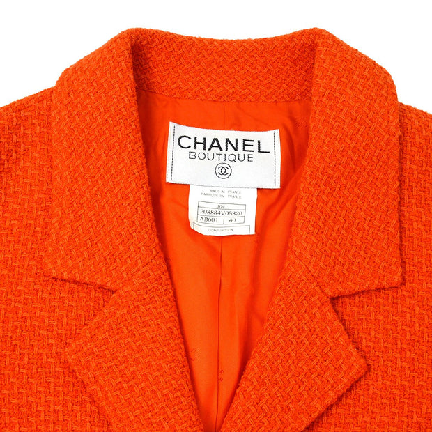 CHANEL 97C #40 Single Breasted Jacket Red
