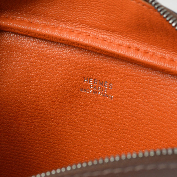 HERMES PLUME 20 Hand Bag Brown Veau Epsom