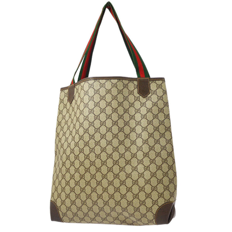 GUCCI Shelly Line Hand Tote Bag Brown