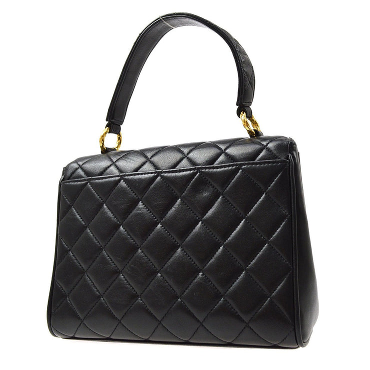 CHANEL Quilted Hand Bag Black
