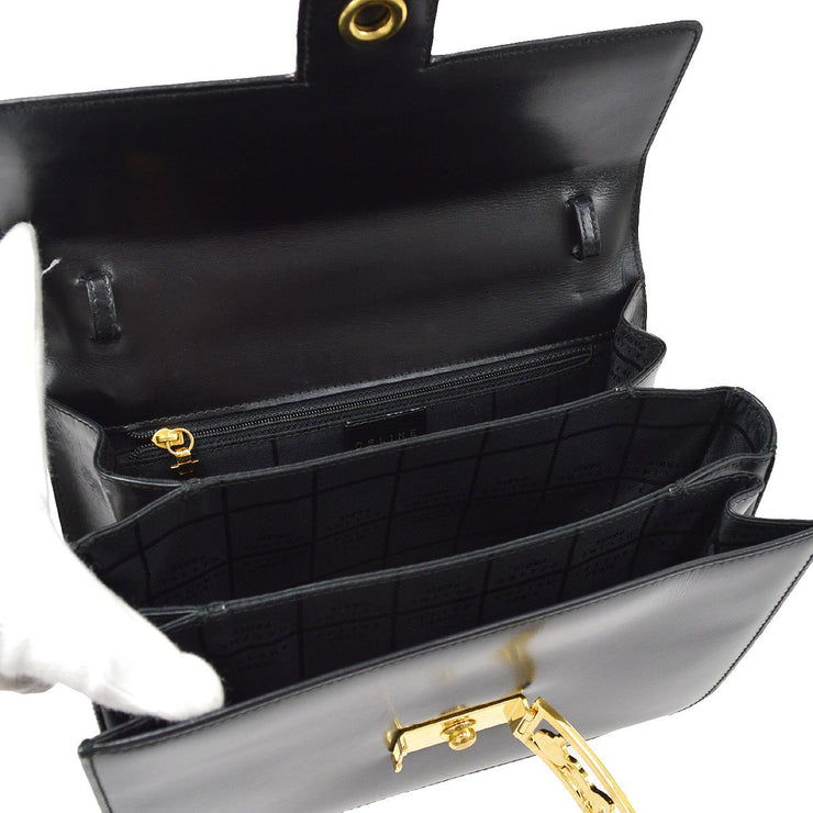 CELINE Horse Carriage Hand Bag Black