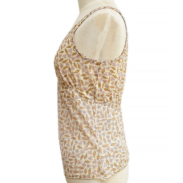 CHANEL 04P #38 Sleeveless Tops Beige