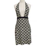 CHANEL 04P #40 Dress Swimwear Swimsuit Ivory Black