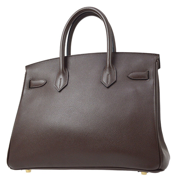 HERMES BIRKIN 30 Hand Bag Brown Veau Epsom
