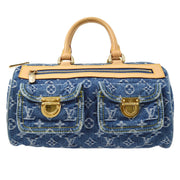 LOUIS VUITTON NEO SPEEDY HAND BAG MONOGRAM DENIM M95019