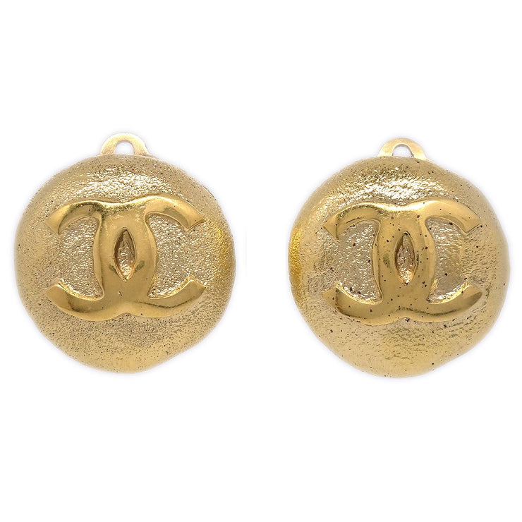 CHANEL Button Earrings Gold 2850/29