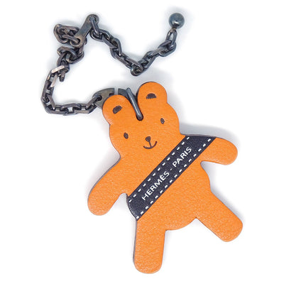 HERMES Berlin 2011 Key Chain Holder Bag Charm Orange