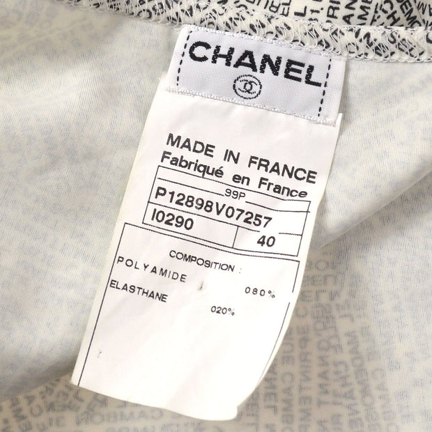 CHANEL 99P #40 Sleeveless Black White