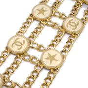 CHANEL Star Medallion Gold Chain Belt 01P