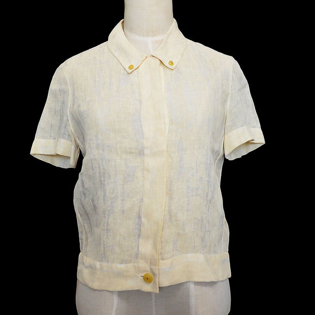 CHANEL 99P #36 T-shirt Blouse Ivory