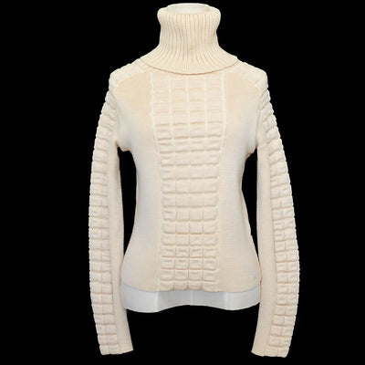 CHANEL 00A #38 Turtleneck Sweater Ivory