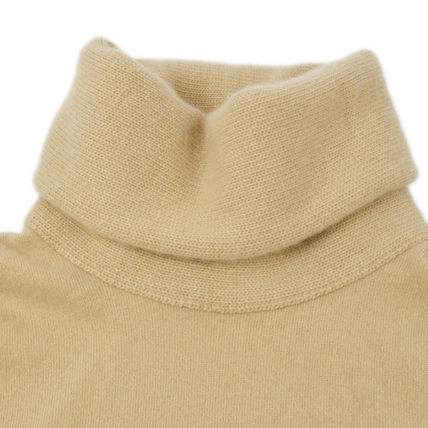 CHANEL 00A #38 Turtleneck Sleeveless Sweater Beige