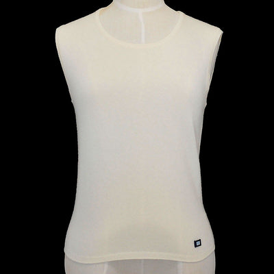 CHANEL 02C #38 Sleeveless Ivory