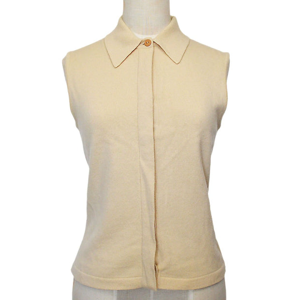 CHANEL 00A #38 Sleeveless Tops Ivory