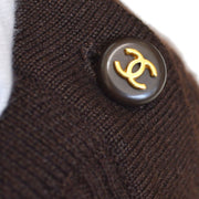 CHANEL 95A #40 High Neck T-shirt Brown