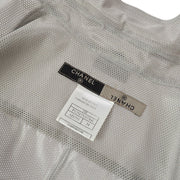 CHANEL 99P #34 Blouse Mesh Shirt Gray