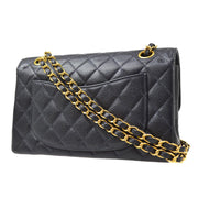 CHANEL Classic Double Flap Small Chain Shoulder Bag Dark Navy Caviar