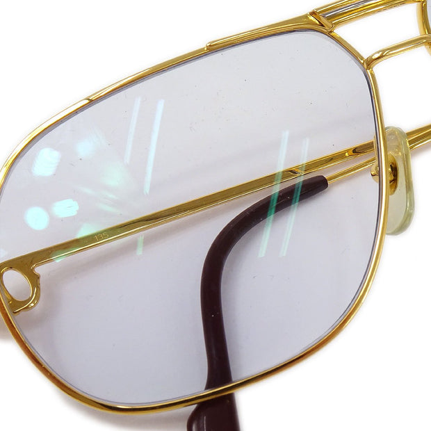 Cartier Reading Glasses Eye Wear Blue Gold 59□12 Small Good