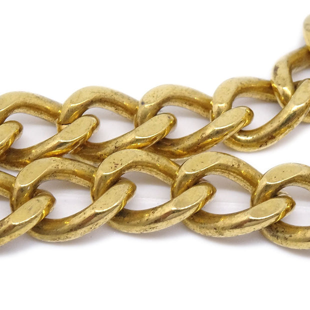 CHANEL Turnlock Gold Chain Bracelet 96A
