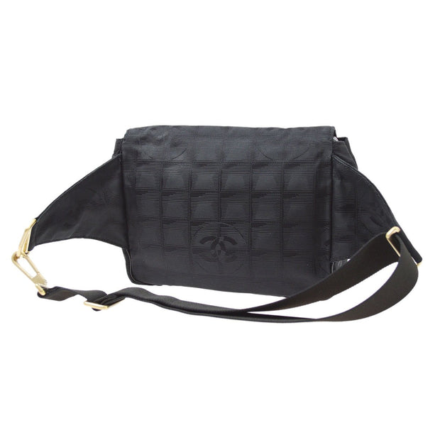CHANEL Travel Line Waist Bag Bum Black