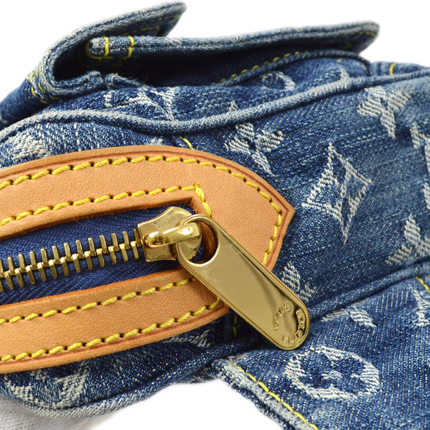 LOUIS VUITTON Waist Bag BUM BAG INDIGO MONOGRAM DENIM M95347