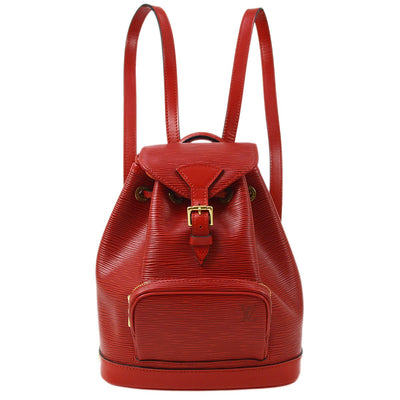 LOUIS VUITTON MINI MONTSOURIS BACKPACK HAND BAG RED EPI MONACO LIMITED