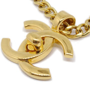 CHANEL 96P Turnlock Gold Chain Pendant Necklace