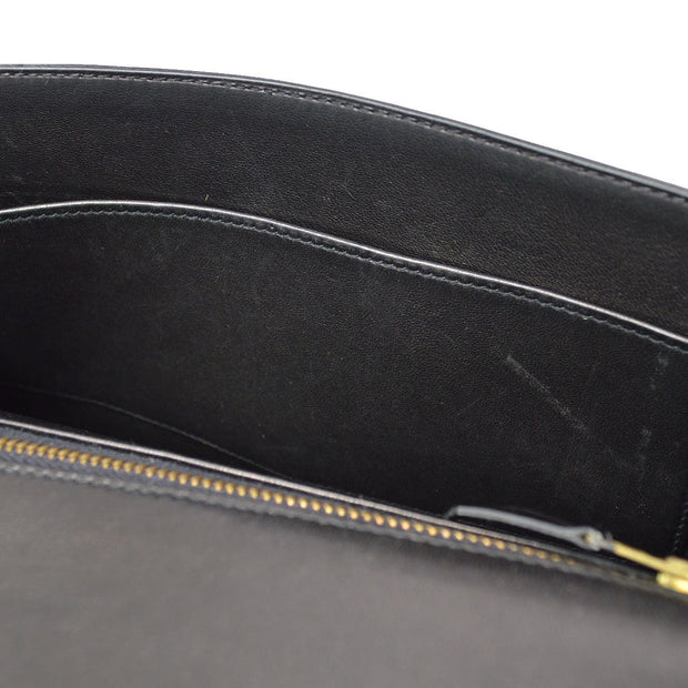 HERMES LIDI Shoulder Bag Black Box Calf