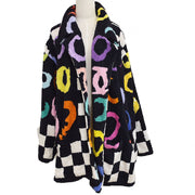 CHANEL 95P #42 Bathrobe Style Coat Gown Black