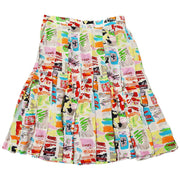 CHANEL 97C #36 Below The Knee Skirt White Multi Color