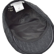 Christian Dior Trotter Casket Cap Hat Embroidery Black #58