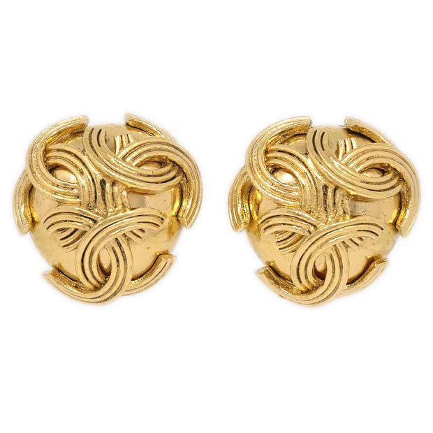 CHANEL Triple CC Earrings Gold 94A