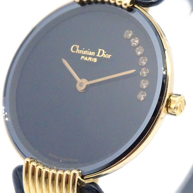 Christian Dior D47-153-5 Black Moon Bagheera Wristwatch Watch