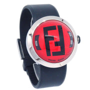 FENDI 8010G Bussola Wristwatch Watch Quartz Red Black