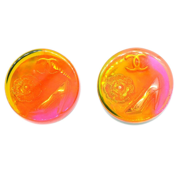 CHANEL Button Earrings Multicolor 97A