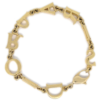 Christian Dior Gold Chain Bracelet
