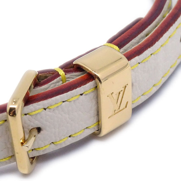 LOUIS VUITTON SUHALI DOUBLE TOUR BRACELET BANGLE WHITE M91846