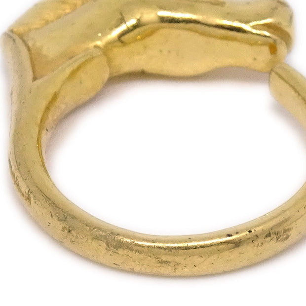 HERMES Horse Gold Ring Size 5