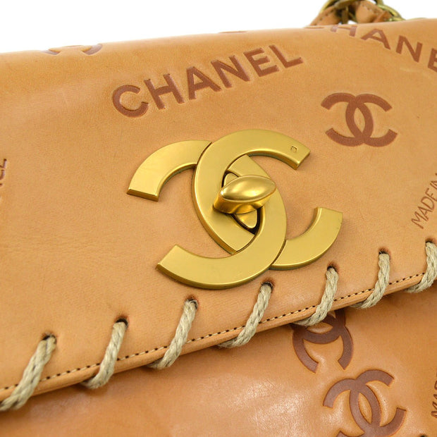 CHANEL Icon Single Chain Shoulder Bag Camel