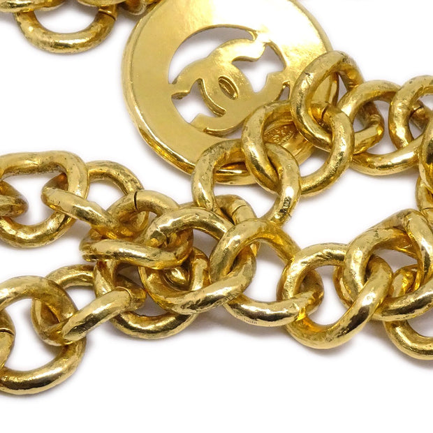 CHANEL Medallion Gold Chain Belt 94A