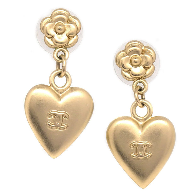 CHANEL Shaking Heart Piercing Gold 02P