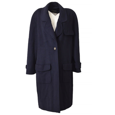 CHANEL 94A #42 Long Coat Navy