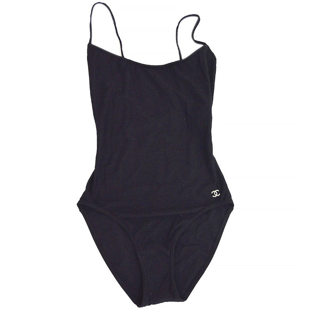 CHANEL 02C #38 Swimwear Swimsuit Black