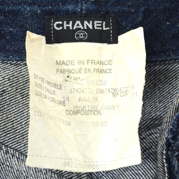 CHANEL 04232 #34 Long Denim Pants Indigo