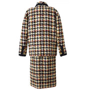 CHANEL 01 #38 Tweed Setup Jacket Dress Black White