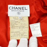 CHANEL 94A #40 Long Coat Red