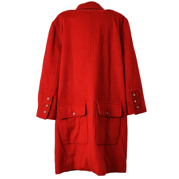CHANEL 95A #40 Long Coat Red