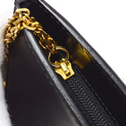 Cartier Panther Coin Purse Wallet Black
