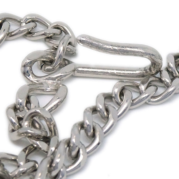 CHANEL Silver Chain Belt 03P Small Good