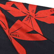 CHANEL Big Scarf Stole Black Small Good